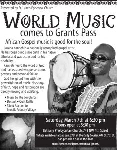Lasana Kanneh World Music Concert- Fundraiser for Foundry Village @ Bethany Presbyterian Church